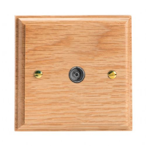 Varilight XK8O Kilnwood Oak 1 Gang Co-Axial TV Socket